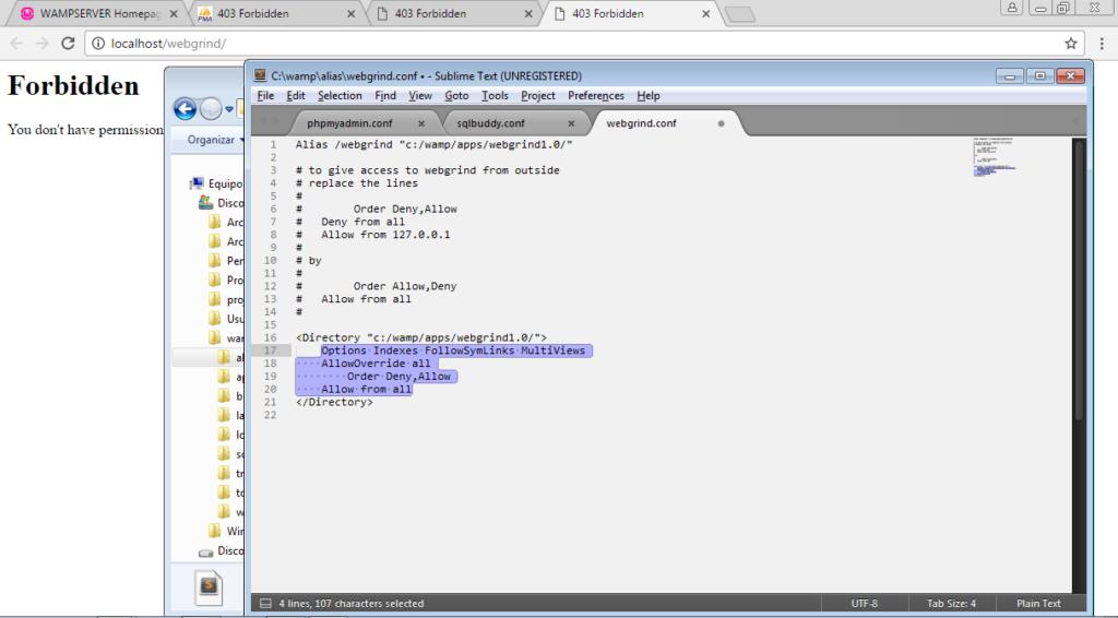 configurar webgrind - Configurar WAMP